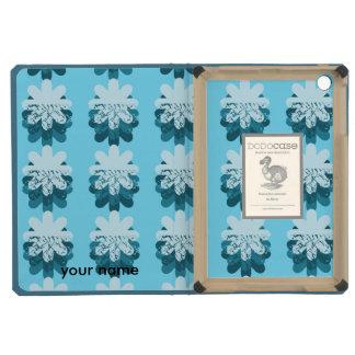 Blue Snowflake Pattern iPad Mini Cases