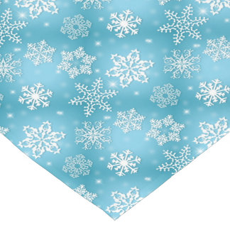 Blue snowflake pattern Christmas Table runner