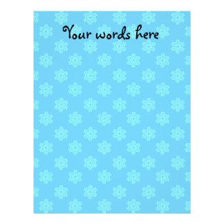Blue snowflake pattern flyers