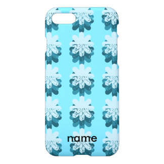 Blue Snowflake Pattern iPhone 7 Case