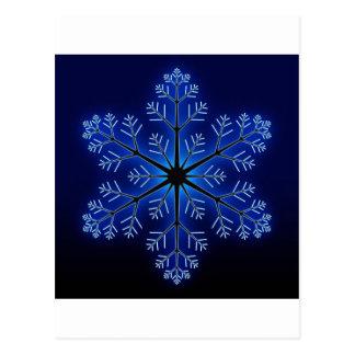 Blue Snowflake Postcard