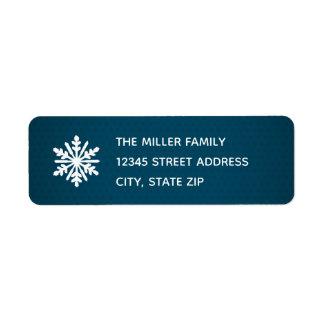 Blue Snowflake - Return Address Label