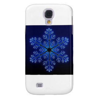 Blue Snowflake Samsung Galaxy S4 Cover