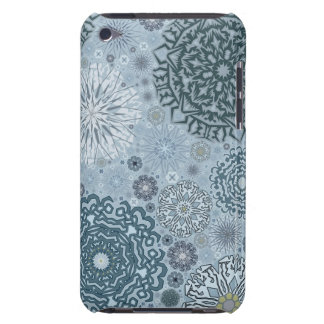 Blue Snowflake Shapes Barely There iPod Case