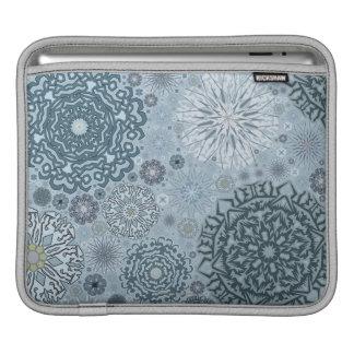 Blue Snowflake Shapes iPad Sleeve
