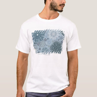 Blue Snowflake Shapes T-Shirt