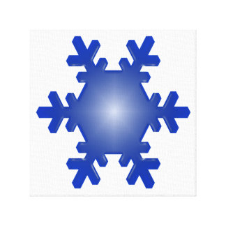 Blue Snowflake Starburst Wrapped Canvas Stretched Canvas Prints