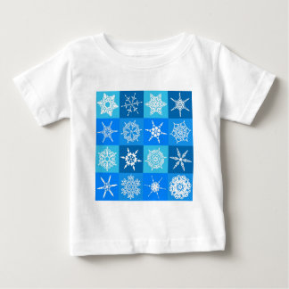 Blue Snowflake Tile Christmas Pattern Gifts Tshirts