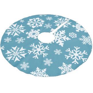 Blue Snowflake Winter Holiday Christmas Tree Skirt