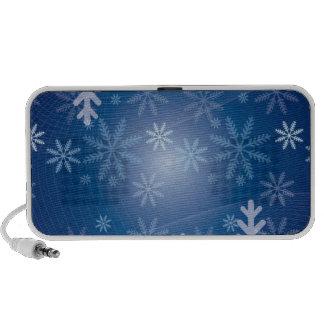 blue snowflake winter pattern notebook speakers
