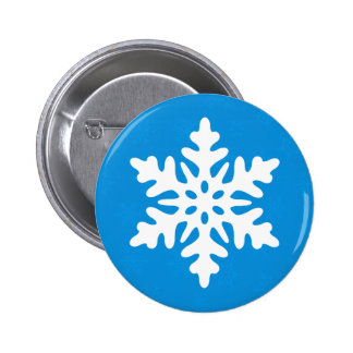 Blue Snowflakes Custom Christmas Button Pin Flair Pinback Button