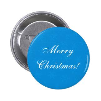 Blue Snowflakes Custom Christmas Button Pin Flair Pins