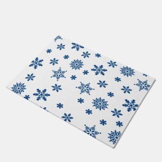 Blue Snowflakes Doormat