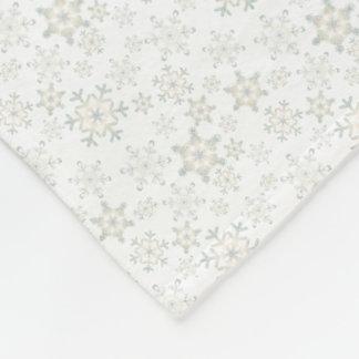 Blue Snowflakes Fleece Blanket