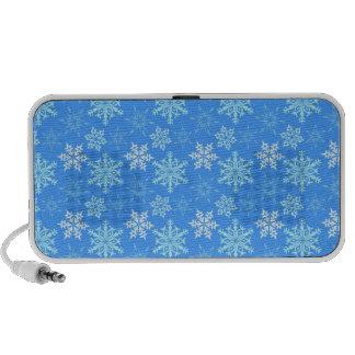 Blue Snowflakes Laptop Speakers
