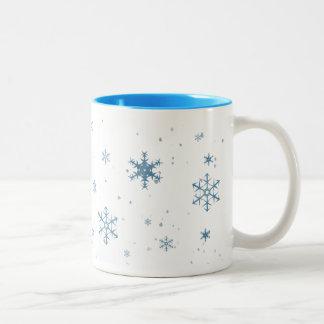 Blue Snowflakes Mug