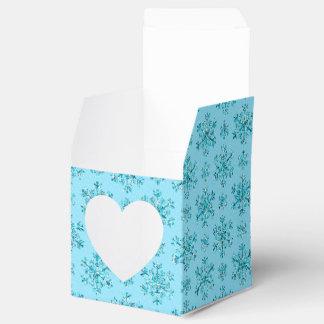 Blue Snowflakes-PARTY FAVOR BOXES,square hrt style Wedding Favour Box
