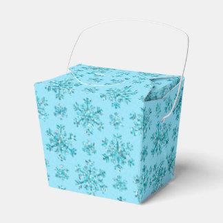 Blue Snowflakes-PARTY FAVOR BOXES, take out Favour Boxes