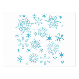 blue snowflakes post cards