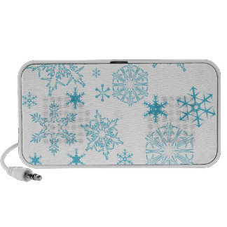 blue snowflakes mp3 speaker