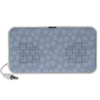 Blue Snowflakes Notebook Speaker