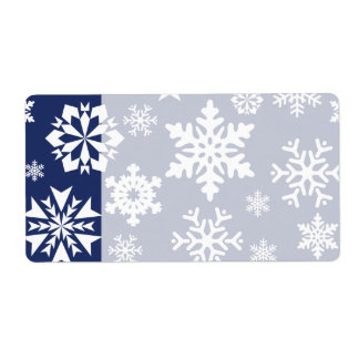 Blue Snowflakes Winter Christmas Holiday Pattern