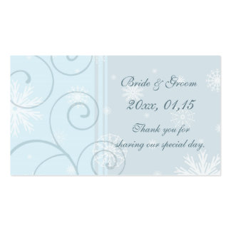 Blue Snowflakes Winter Wedding Favor Tags Pack Of Standard Business Cards