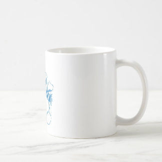 Blue snowman coffee mug