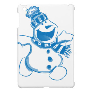 Blue snowman cover for the iPad mini
