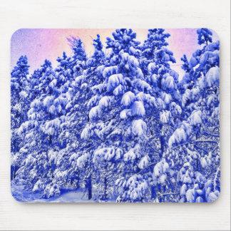 Blue Snowscape, Conifer, CO Mouse Pad