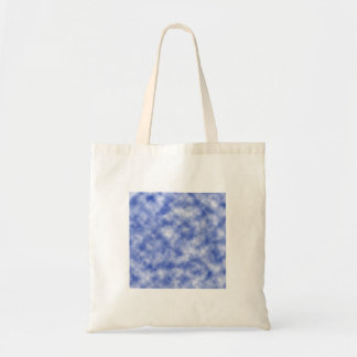 Blue Snowy Background Budget Tote Bag