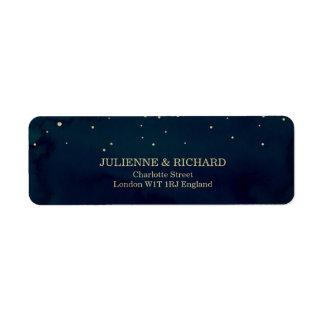 Blue Snowy Night Wedding Address Labels