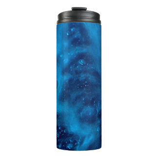 Blue Soap Sud Patterned Hot or Cold Drink Carrier Thermal Tumbler