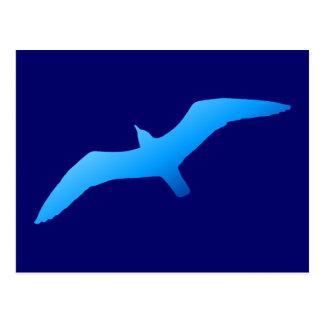 Blue Soaring Gull Postcard
