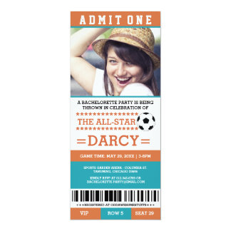 Blue Soccer Bachelorette Party Invites