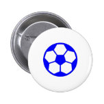 "Blue ""SOCCER BALL"" image Pins"