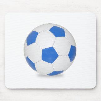 Blue Soccer Ball Mousepads