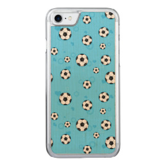 Blue Soccer Ball Pattern Carved iPhone 8/7 Case