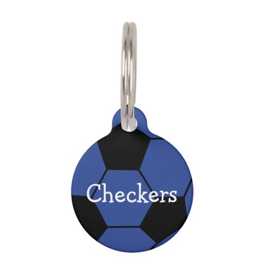 Blue Soccerball Custom Pet Tag