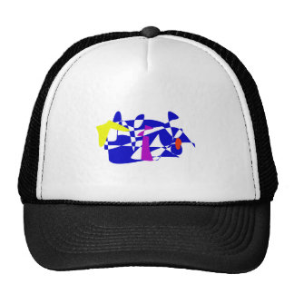 Blue Society Mesh Hats