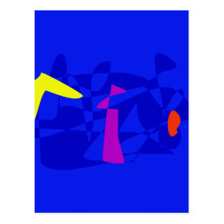 Blue Society Postcard