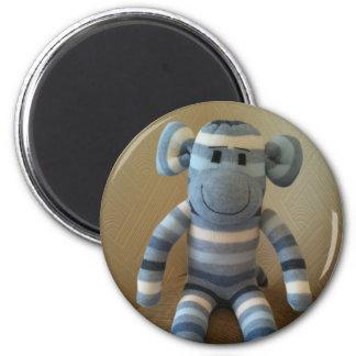 Blue Sock Monkey Magnet