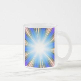 Blue Solar Flare Star Burst Background Coffee Mug
