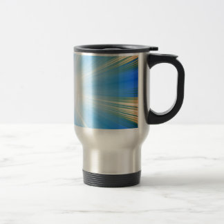 Blue Solar Flare Star Burst Background Stainless Steel Travel Mug