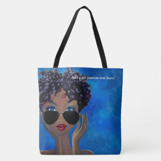 Blue Sorority Black Art Gift Tote Bag