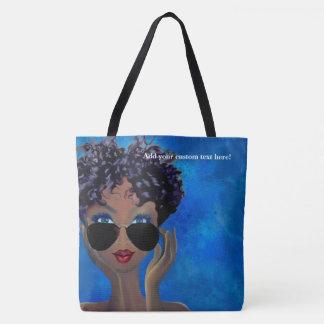 Blue Sorority Black Art Gift Tote Bag