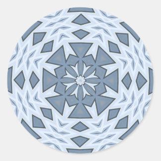 Blue Southwestern Star Round Sticker