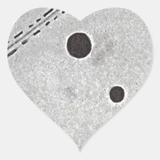 Blue Space by Kazimir Malevich Heart Sticker