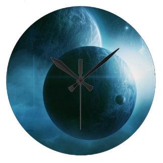 Blue Space Clock