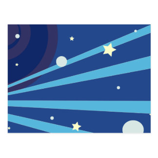 Blue Space Postcard